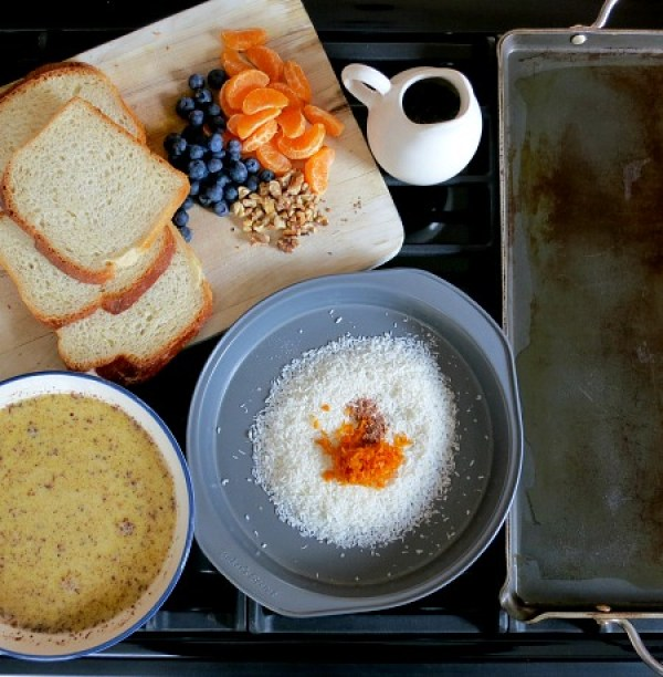 Orange Coconut Blueberry French Toast Ingredients