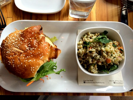 Veggie Burger and Barley Salad at Wileyville