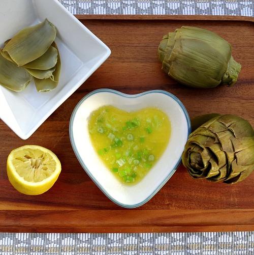 Artichokes and Lemon Butter Sauce
