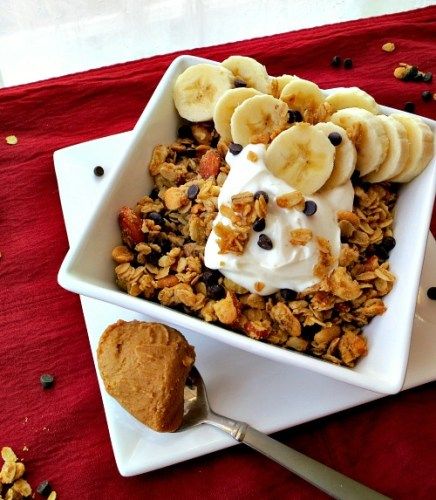 Peanut Butter Chocolate Chip Banana Granola