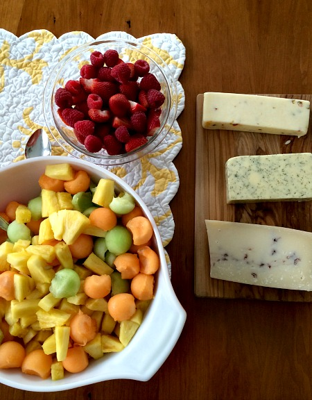 Fruit and Cheese Course