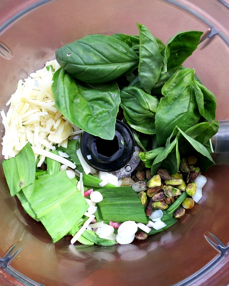Pistachio Ramp Pesto Food Processor