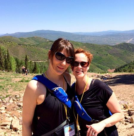 Amanda and Meg Blend Retreat 2014 Hiking