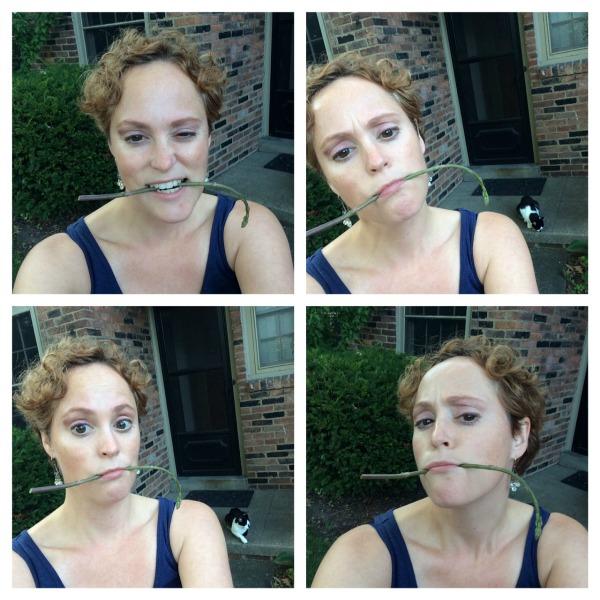 Meg and the Asparagus Selfies