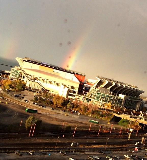Rainbow at the Brown Stadium