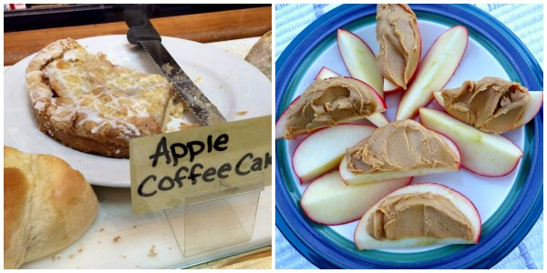 Apple Coffee Cake and PB Collage
