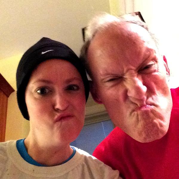 Dad and Meg Christmas Morning Run 2