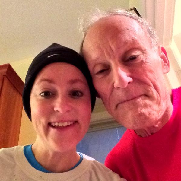 Dad and Meg Christmas Morning Run