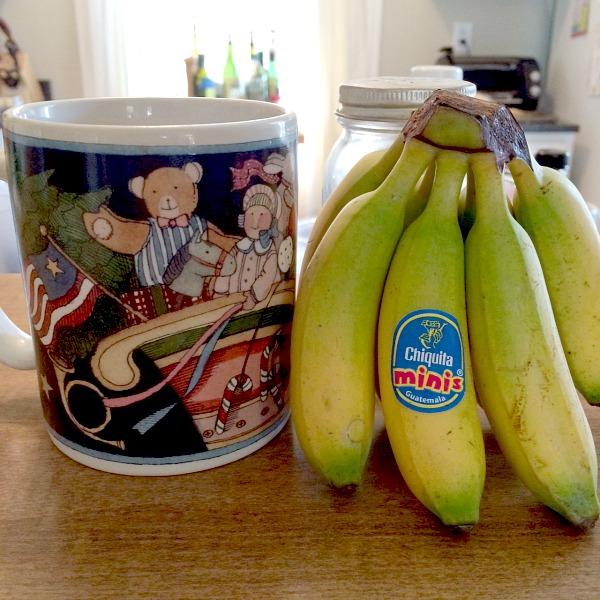 Day After Christmas Coffee and Mini Bananas Chiquita