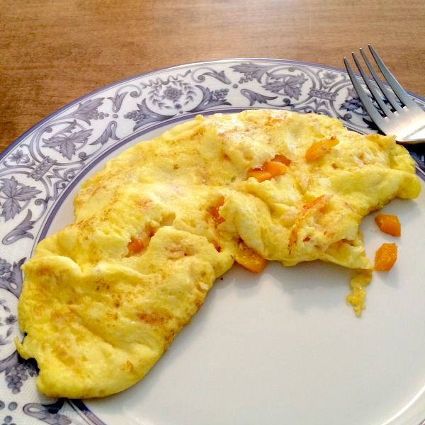 Day After Christmas Omelet with Peppers and Parmesan