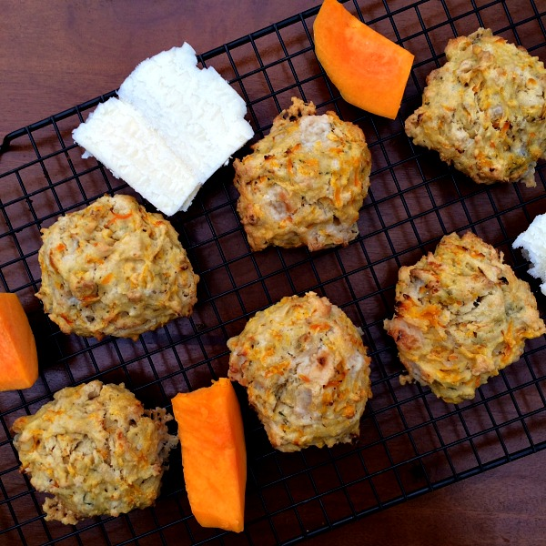 Butternut Squash Chedar Drop Biscuits