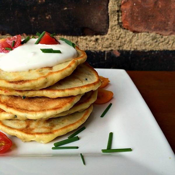 Parmesan Pesto Pancakes