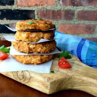 Acorn Squash Fritters with Spinach, Sun-dried Tomatoes and Mozzarella