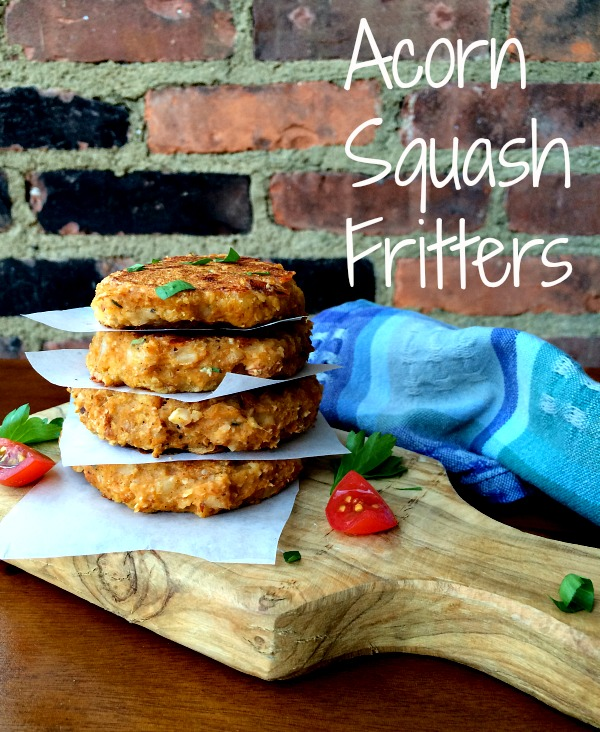 Acorn Squash Fritters with Spinach, Sun-dried Tomatoes and Mozzarella Cheese
