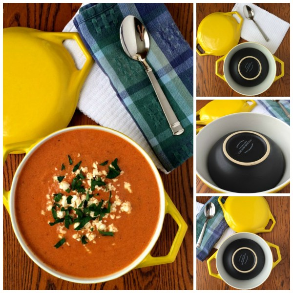 Food Photography Tomato Basil Soup Collage