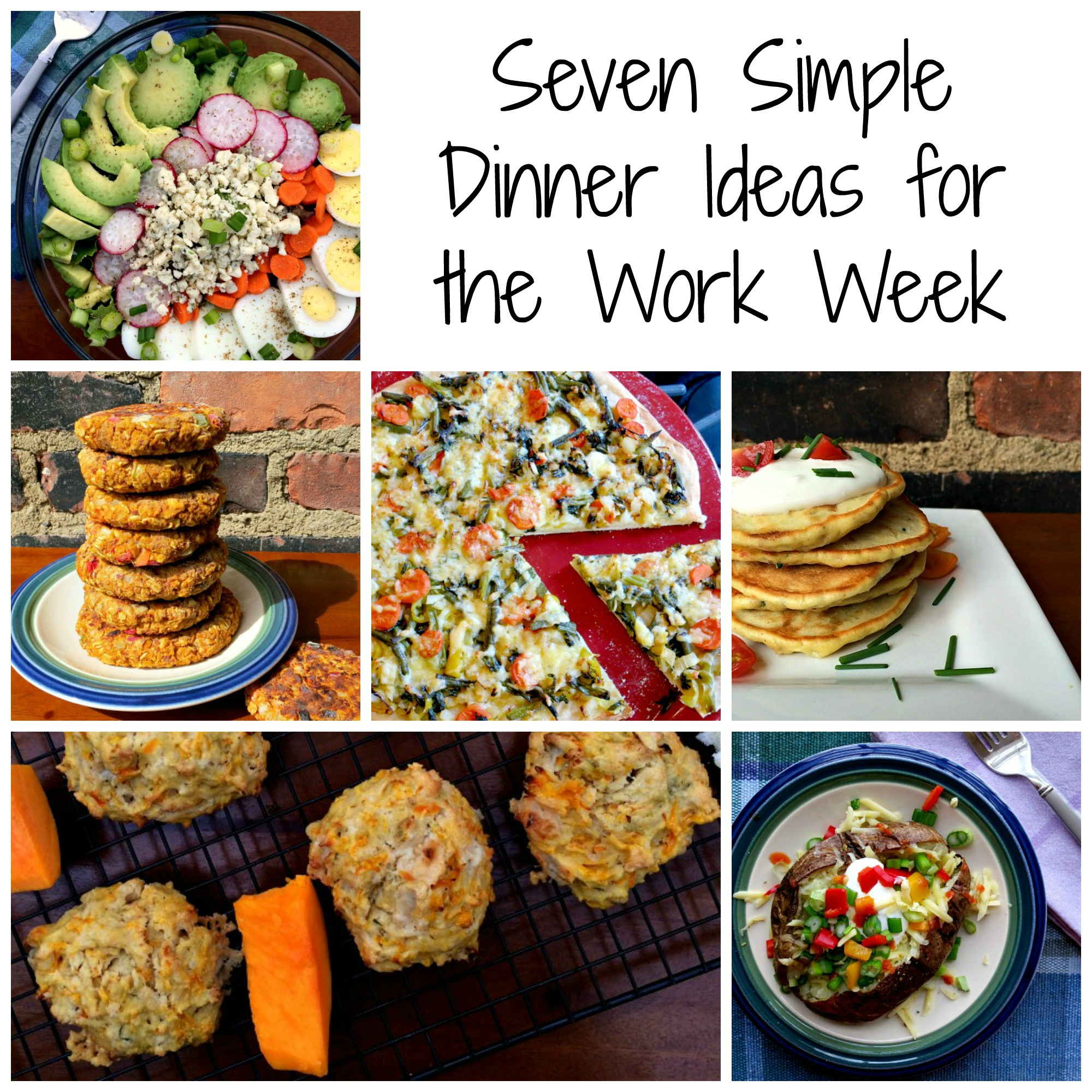 Seven Simple Dinner Tips for the Work Week Collage
