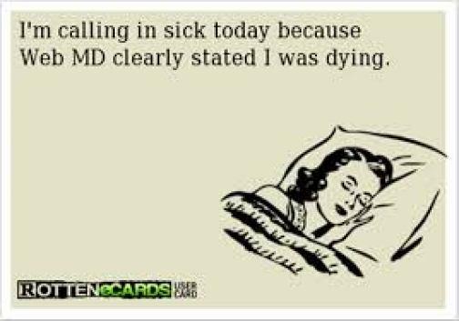 Web MD Sick