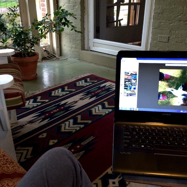 Blogging in the Three Seasons Room
