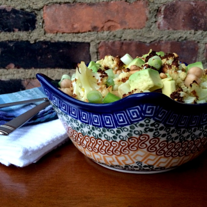 Cauliflower Chickpea Avocado Salad