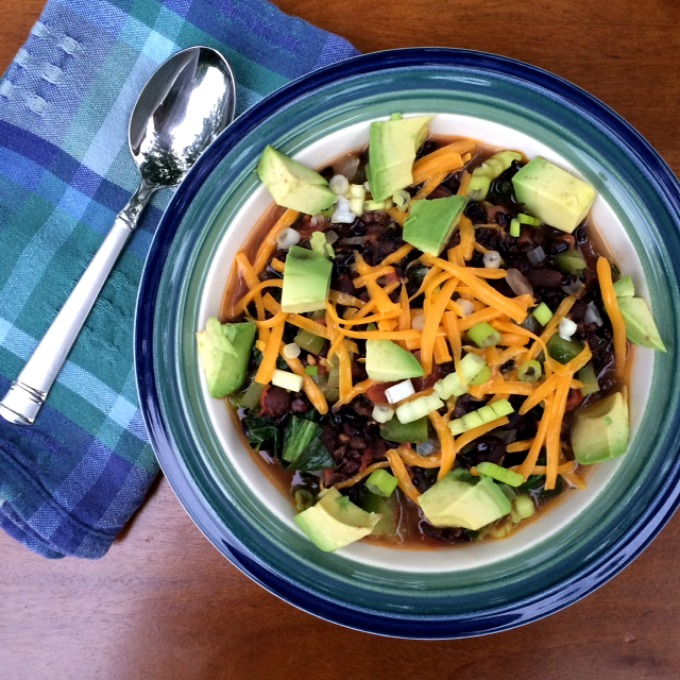Bok Choy, Black Bean and Rice Bowl