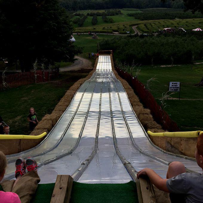 Longest Slide at Mapleside Farms