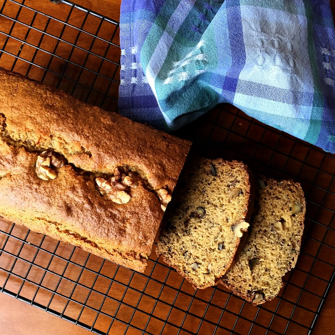 Greek Yogurt Banana Bread with Walnuts