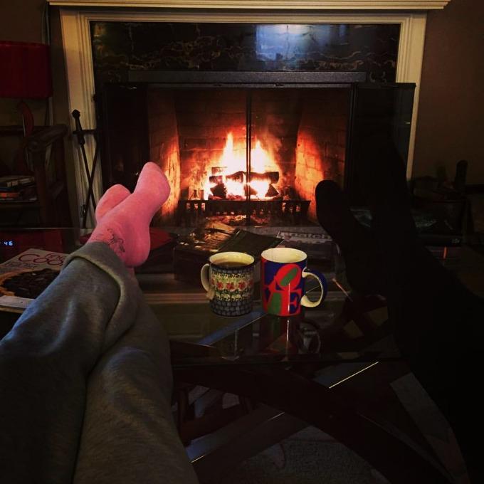 Meg and Amanda Spoons Fireside