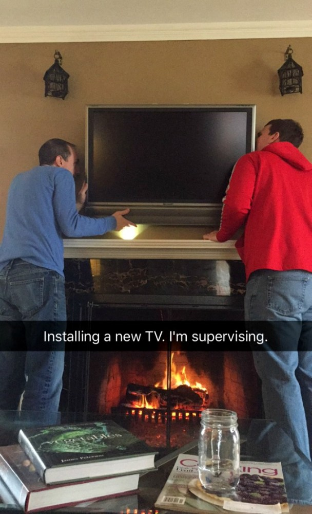 Installing a new TV