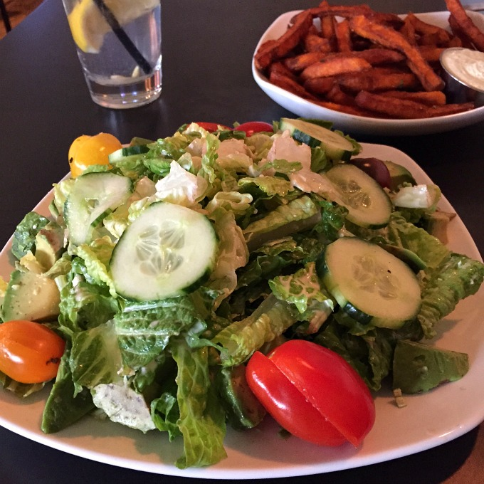 Cobb Salad and Sweet Potato Fries
