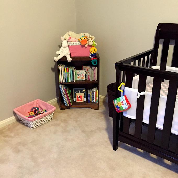 Nursery - Crib and Bookcase