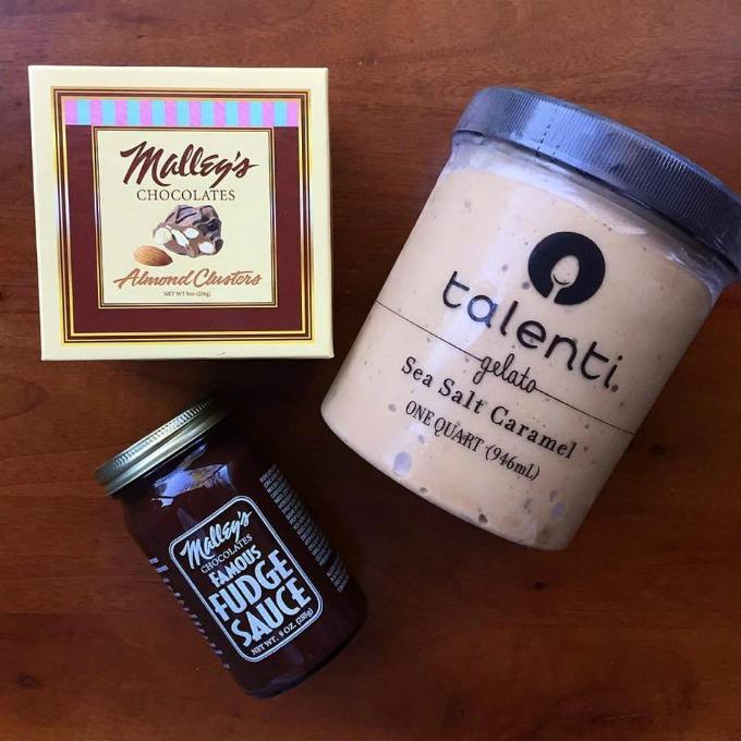 Malley's Chocolates, Hot Fudge and Talenti Gelato