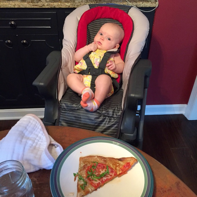 Ave in the High Chair