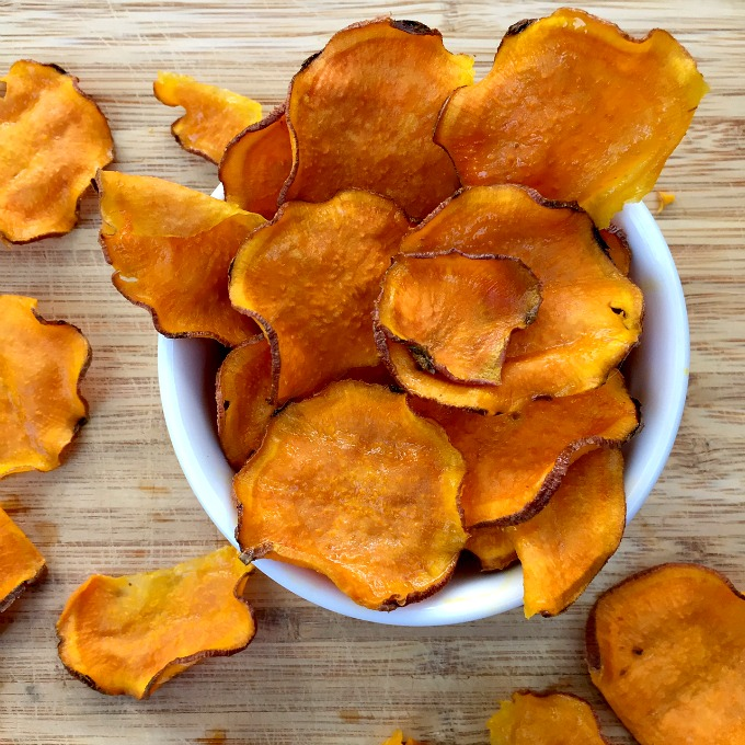 Crunchy Oven Baked Sweet Potato Chips - Clean Eats, Fast Feets