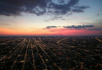 City-At-Night-Chicago