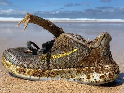 Brand new shoes are washing up on beaches around the Atlantic
