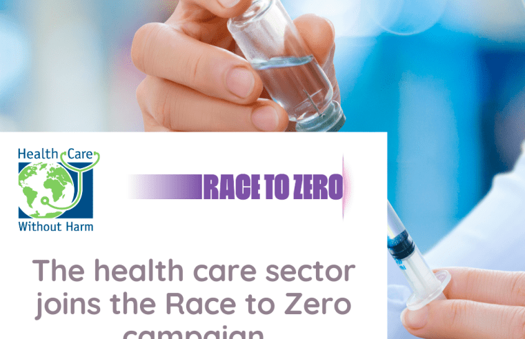 May 26: The health care sector joins the Race to Zero campaign