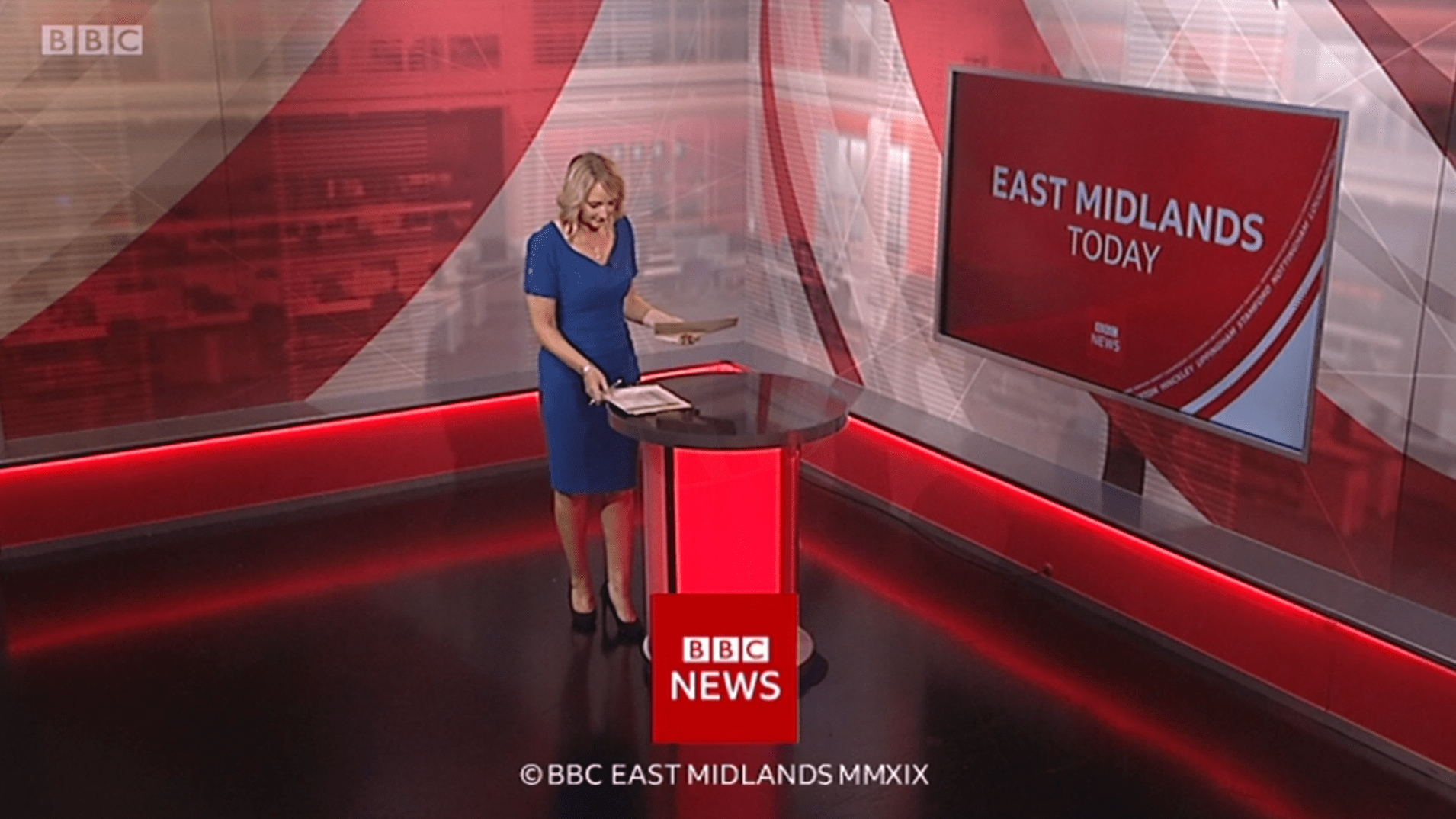PICTURED: BBC East Midlands Today programme endboard.