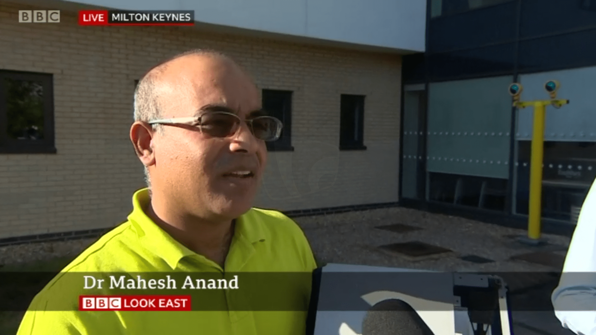PICTURED: BBC Look East (Cambridge) lower-third and live/location bug.