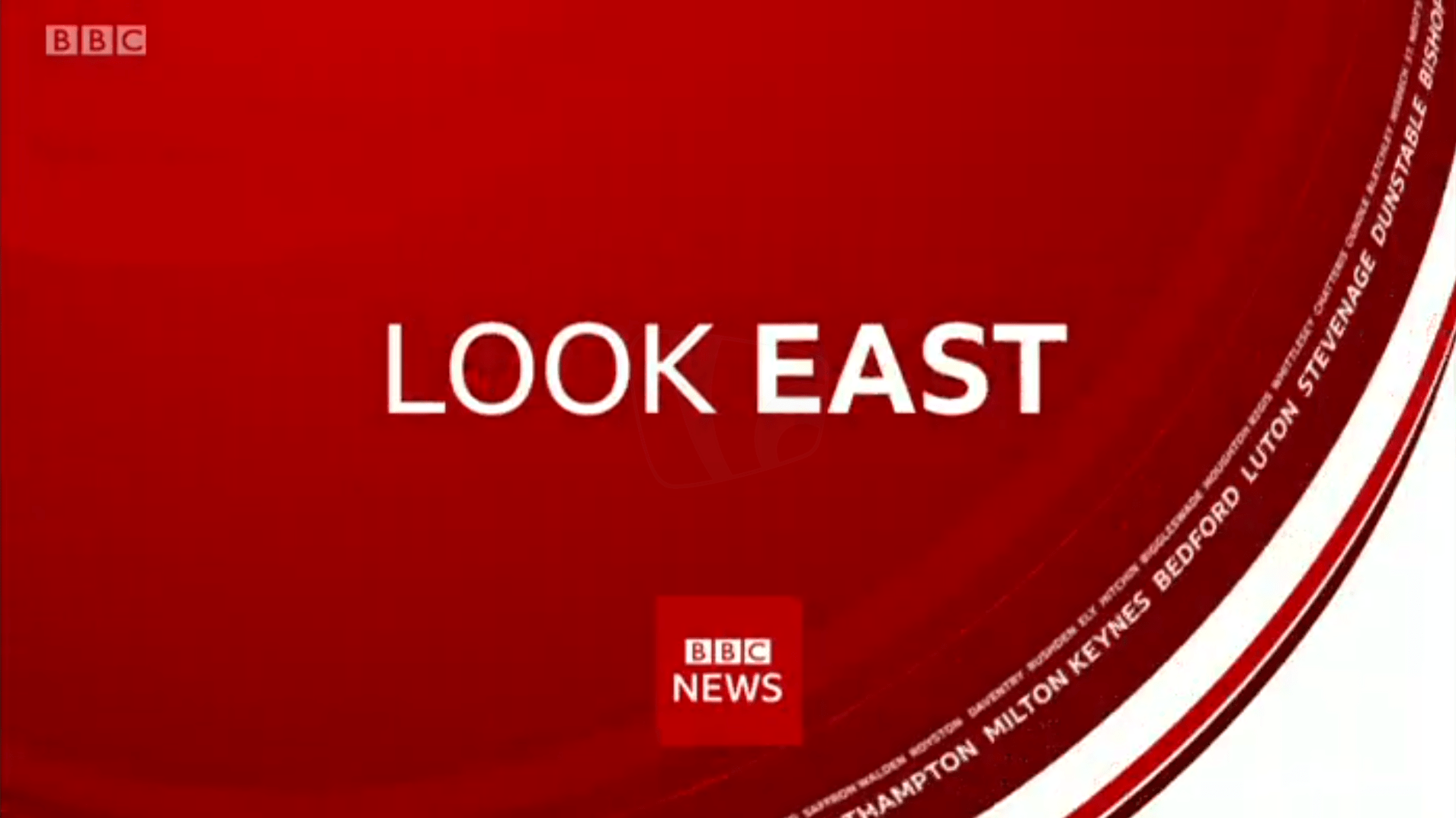PICTURED: BBC Look East (Cambridge) opening titles.