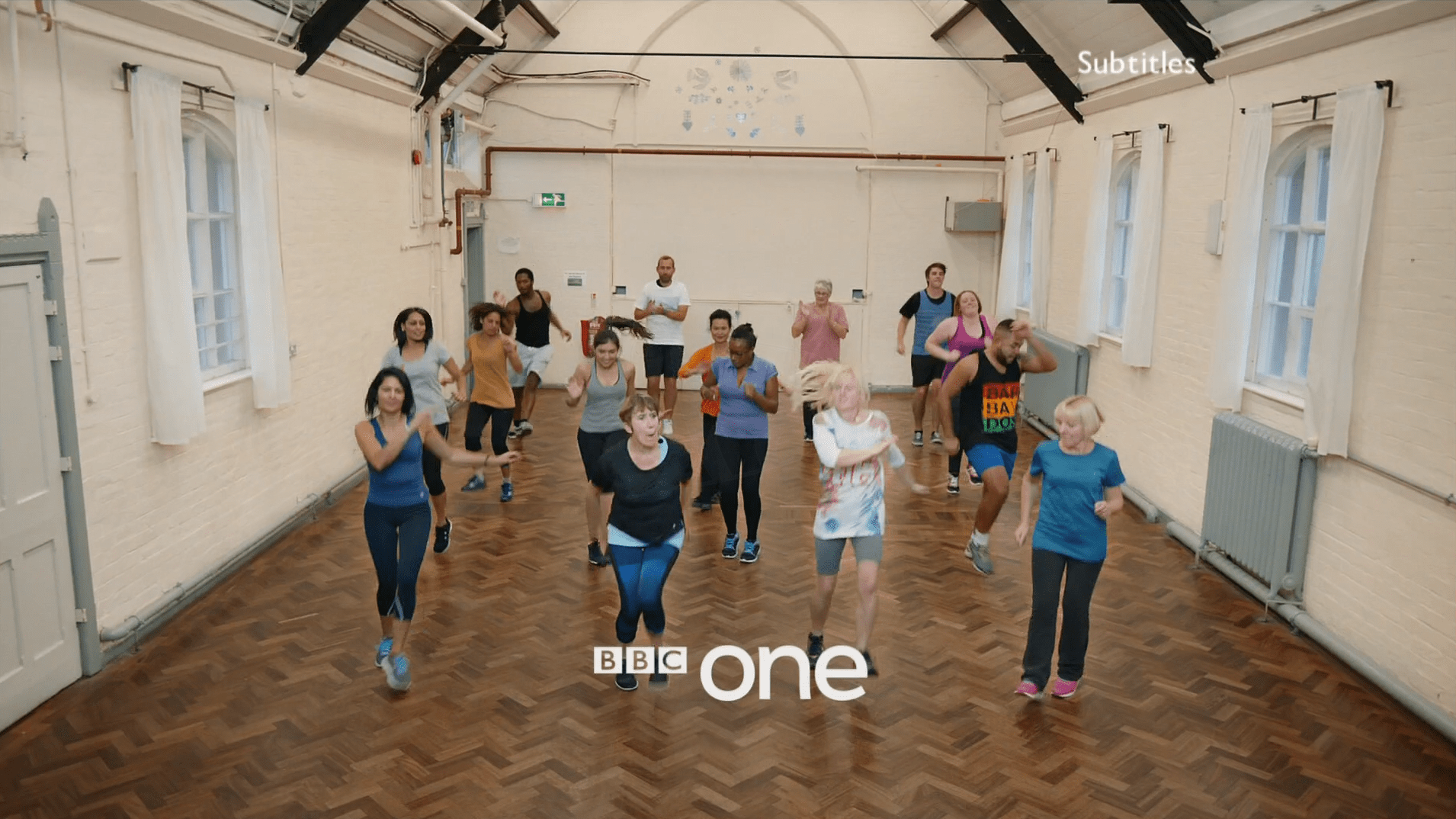PICTURED: BBC One ident - Exercise Class, Avonmouth.