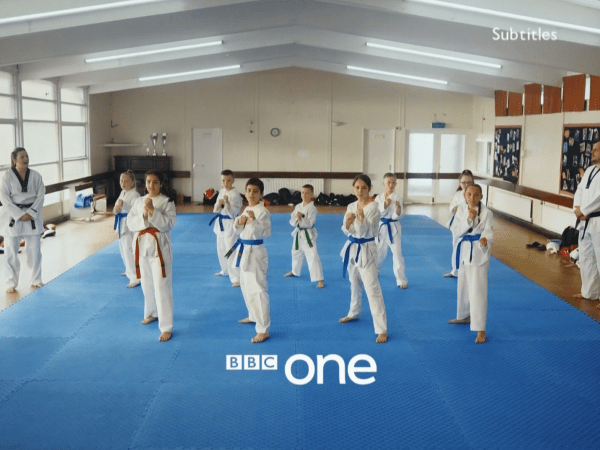 PICTURED: BBC One ident - Taekwondo.