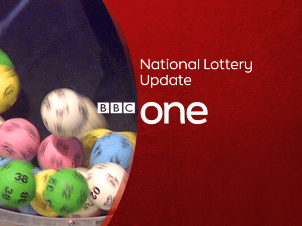 PICTURED: BBC One programme slide - National Lottery Update