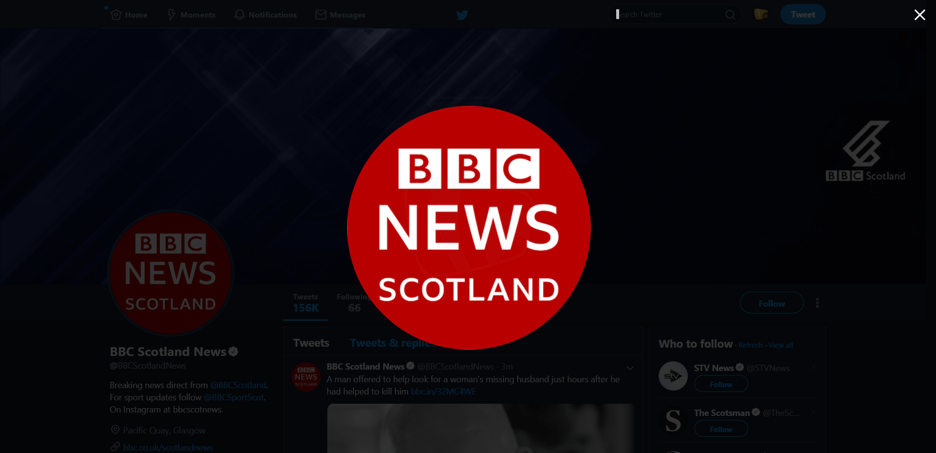 PICTURED: BBC News Scotland branding on social media.