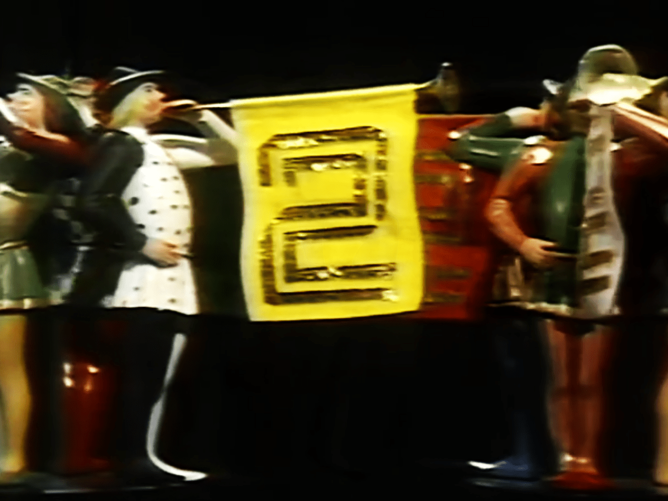 PICTURED: BBC Two ident - Christmas 1978.