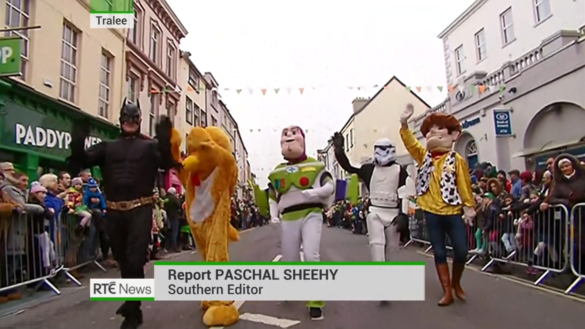 PICTURED: RTÉ News: Six-One presentation for St Patrick's Day - lower-thirds.
