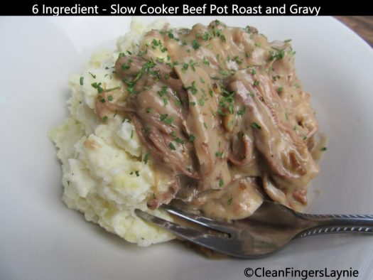 6 Ingredient Slow Cooker Beef Pot Roast and Gravy