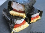 Stack of Spam Musubi Rolls