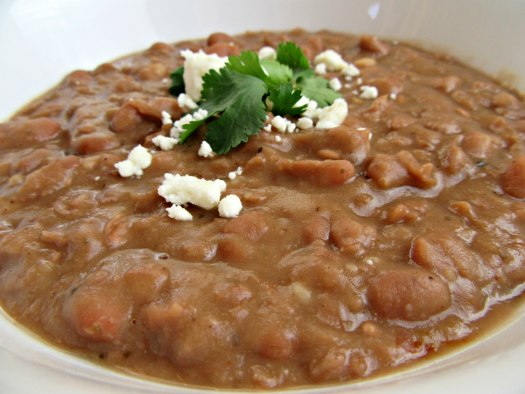Slow Cooker or Instant Pot Refried Beans - Close Up