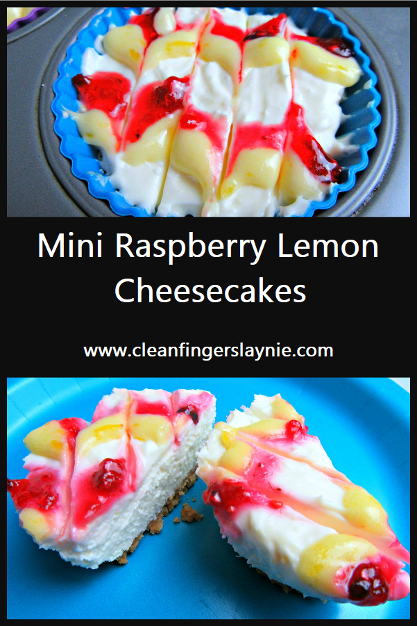 Mini Raspberry Lemon Cheesecakes - Clean Fingers Laynie