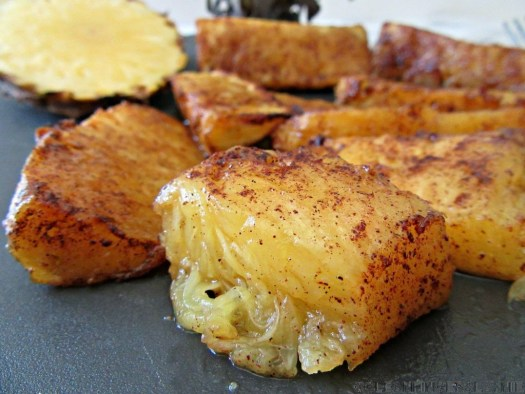Air Fryer Grilled Pineapple Close Up